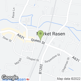 Map of Rhodes Fitted Kitchens Ltd in Market Rasen, lincolnshire