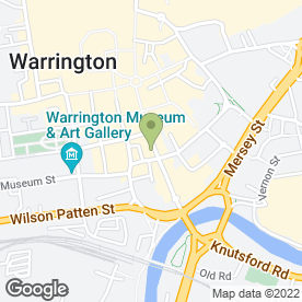 Map of The Feathers in Warrington, cheshire