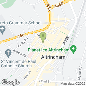 Map of Pi (Altrincham) in Altrincham, cheshire