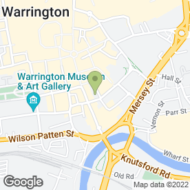 Map of Crown Cars in Warrington, cheshire