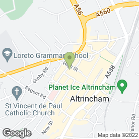 Map of Budget Drain Services in Altrincham, cheshire