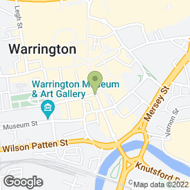 Map of Skipton Building Society in Warrington, cheshire