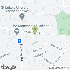 Map of Motor World in Manchester, lancashire