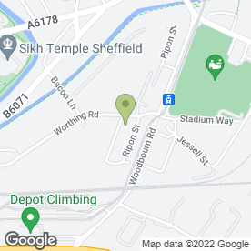 Map of Century Mills Factory Shop in Sheffield, south yorkshire