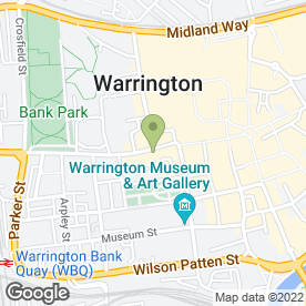 Map of Hot Property in Warrington, cheshire