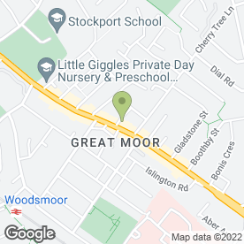 Map of Motor World in Stockport, cheshire