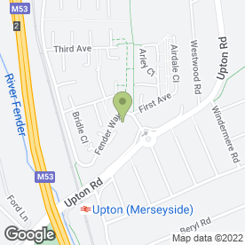 Map of The Fender Way Health Centre in Prenton, merseyside