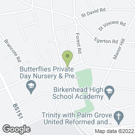 Map of D E S Home & Garden in Oxton, Prenton, merseyside