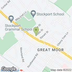 Map of A6 Grill in Great Moor, Stockport, cheshire