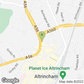 Map of Manchester Merchant Wines in Altrincham, cheshire