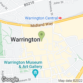 Map of Greggs in Warrington, cheshire