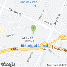 Map of The Framing Centre in Birkenhead, merseyside