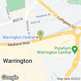 Map of Beryl Cotton Weddings in WARRINGTON, cheshire