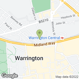 Map of Cheshire Wills Ltd in Warrington, cheshire