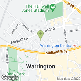Map of Technical Display Systems Ltd in Warrington, cheshire