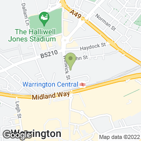 Map of Top Print in Warrington, cheshire