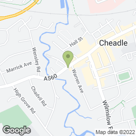 Map of CHEADLE BEAUTY SALON in Cheadle, cheshire