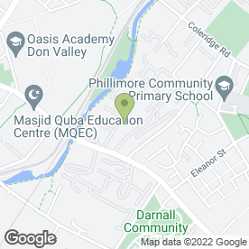 Map of Just Weddings in Sheffield, south yorkshire