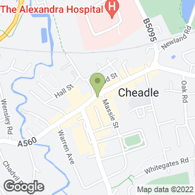 Map of Print On in Cheadle, cheshire