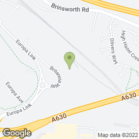 Map of Aston Hotel Sheffield/Rotherham in Rotherham, south yorkshire
