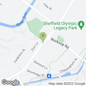 Map of Saucy Stella's in Sheffield, south yorkshire