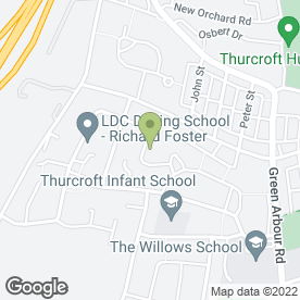 Map of A & R Taxis in Thurcroft, Rotherham, south yorkshire
