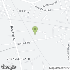 Map of Cheadle Heath Police Station in Stockport, cheshire