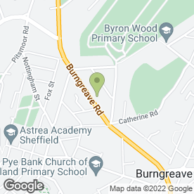 Map of Melrose Surgery in Sheffield, south yorkshire
