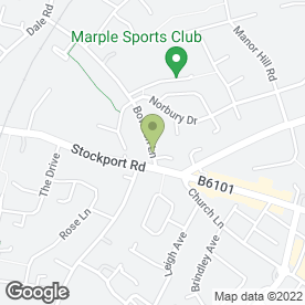 Map of Mobile Hairdresser in Marple, Stockport, cheshire