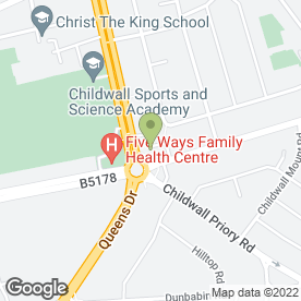 Map of Childwall Five Ways Auto Electrics in Liverpool, merseyside