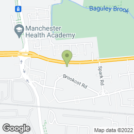 Map of MJB Travel in Manchester, lancashire