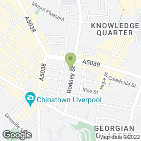 Map of Rodney Chambers in Liverpool, merseyside
