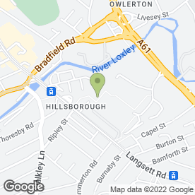 Map of Flames Of Sheffield in Langsett Road, Sheffield, south yorkshire