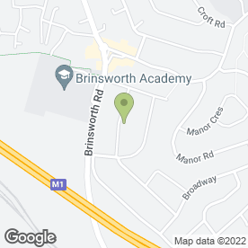 Map of JRH Travel in Brinsworth, Rotherham, south yorkshire