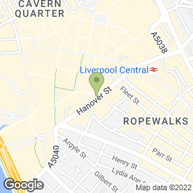 Map of De-Cafe Catering in Liverpool, merseyside
