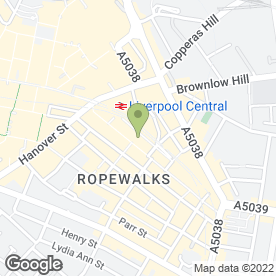 Map of Greggs in Liverpool, merseyside