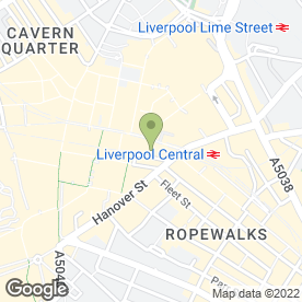 Map of Santander in Liverpool, merseyside