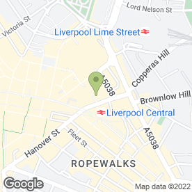 Map of Pauls Hair World in Liverpool, merseyside