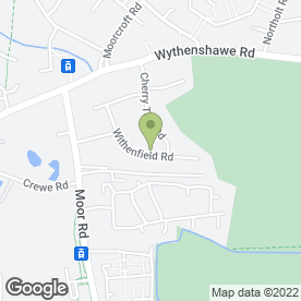 Map of D Wilding Garden Services in Manchester, lancashire