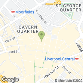 Map of Fratelli Deli Cafe in Liverpool, merseyside