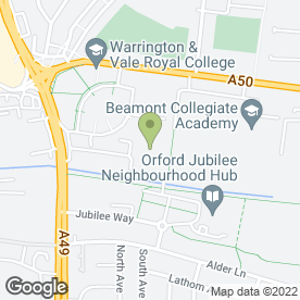 Map of Focus on Care Recruitment Ltd in Warrington, cheshire