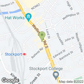 Map of New Curry Palace in Stockport, cheshire