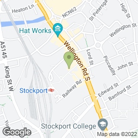 Map of Cineworld Cinemas in Stockport, cheshire