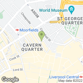 Map of Florist of UK in Liverpool, merseyside