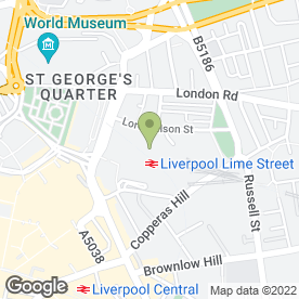 Map of Upper Crust in Liverpool, merseyside