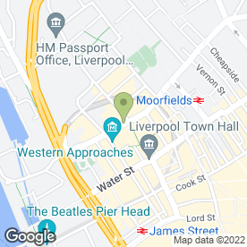 Map of The Racquet Club Hotel in Liverpool, merseyside