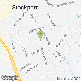 Map of Shampoochie Dog Groomers in Stockport, cheshire