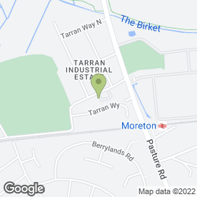 Map of Forge Engineering Ltd in Tarran Industrial Estate, Wirral, merseyside