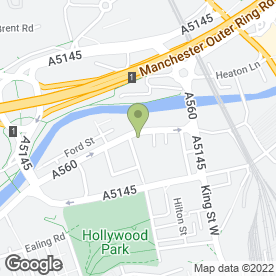 Map of North West Towbar Centre in Stockport, cheshire