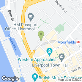 Map of Covercian in Liverpool, merseyside